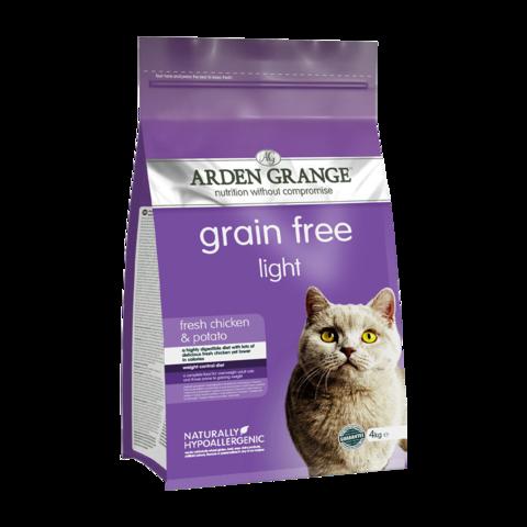 Arden Grange Adult Cat Light Сухой корм для взрослых кошек Диетический Курица и Картофель беззерновой