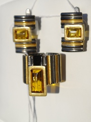 Рембо (кольцо + серьги из серебра)