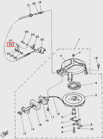 Тяга для лодочного мотора T5 Sea-PRO (4-26)