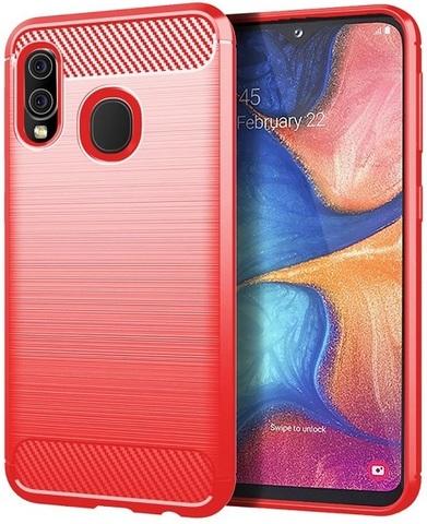 Чехол Samsung Galaxy A20 (Galaxy A30, M10S) цвет Red (красный), серия Carbon, Caseport