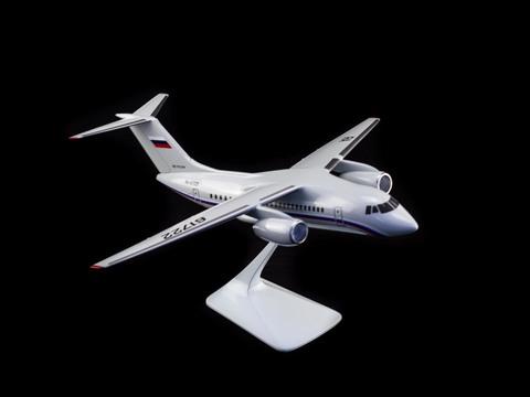 Модель самолета Ан-148-100Е (М1:100, СЛО Россия)