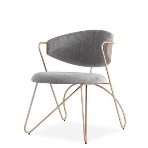 Стул-кресло Sophia by Light Room (серый/золотые ножки)
