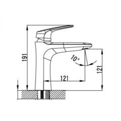 Смеситель KAISER Leon 18111 для раковины схема