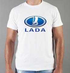 Футболка с принтом Лада (Lada) белая 003