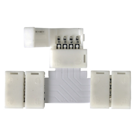 Т-образный коннектор для светодиодной ленты RGB (5 шт.) LED 3T