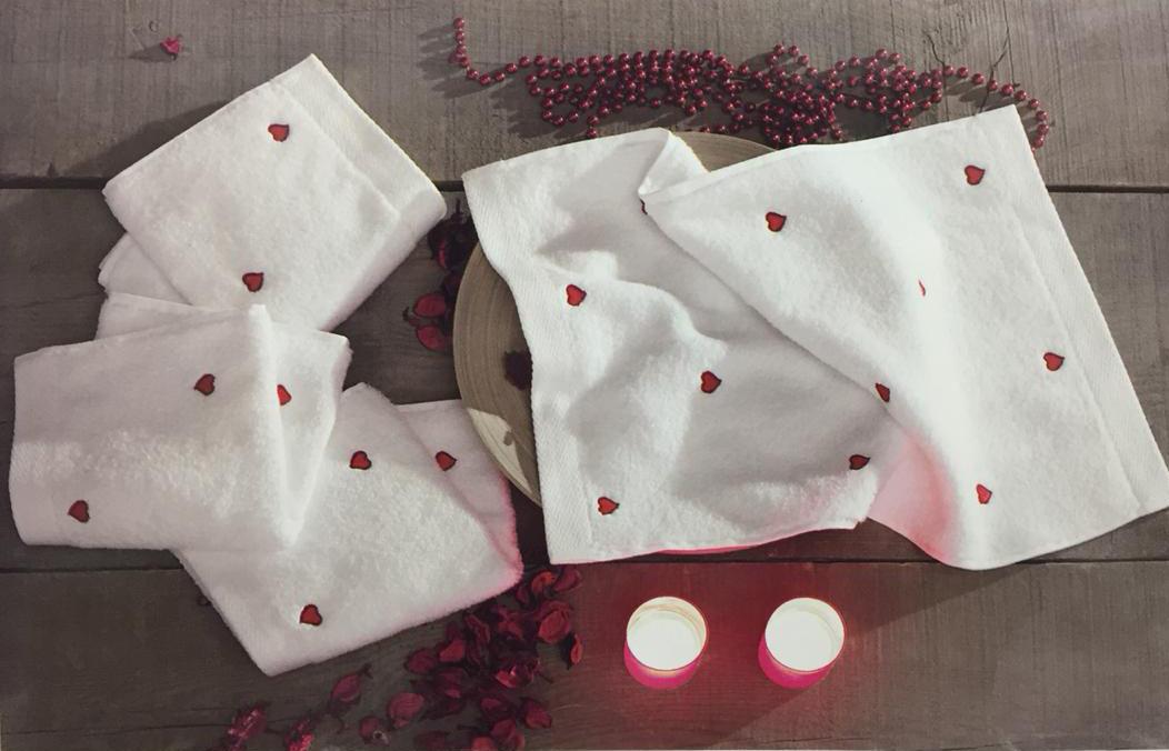 Наборы салфеток Набор салфеток MICRO LOVE - МИКРО ЛАВ  в размере 30х50 4шт Maison Dor (Турция) лав.jpg