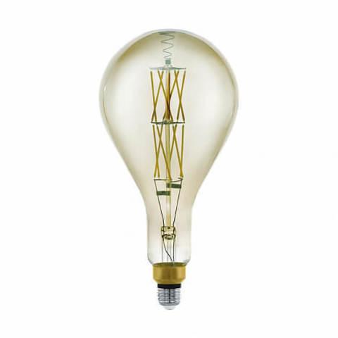 Лампа LED филаментная диммир. дымчатого цвета Eglo BIG SIZE LM-LED-E27 8W 600Lm 3000K PS160 11844