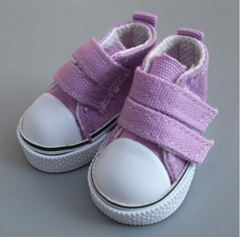 Взуття для ляльки Let's make Кеди на липучці фіолетові