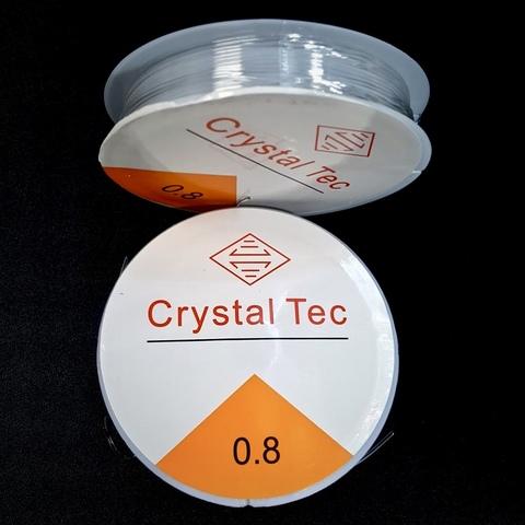 Спандекс резинка 0,8 мм - силиконовая нить-прозрачный