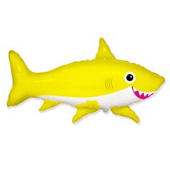 F Фигура, Счастливая акула, Желтый, 39''/99 см, 1 шт.