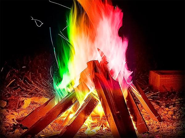 Разноцветный огонь