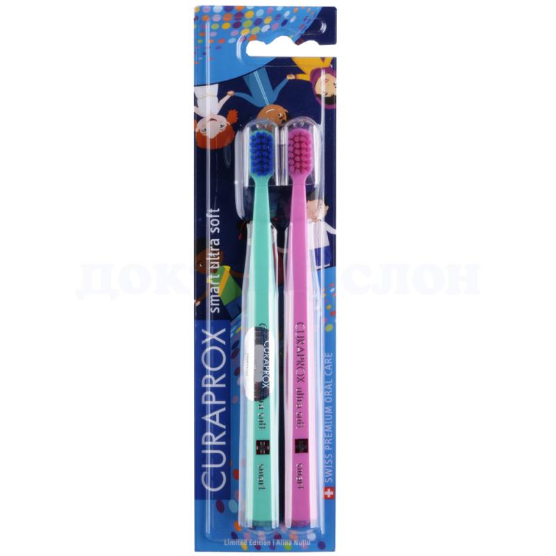 Набор зубных щеток для детей Smart Duo World Edition 2018/ CURAPROX, 2 щетки