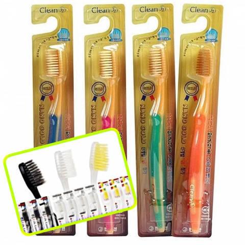 Мягкая Зубная Щетка С Золотым Напылением DR.LUSSO Nano Silver Toothbrush