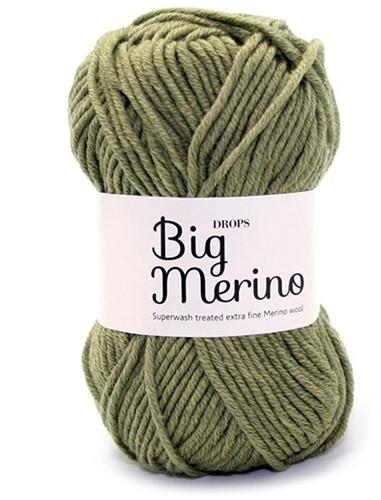 Пряжа  Drops Big Merino 13 олива