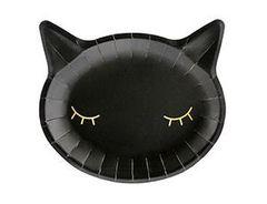 Тарелка бум Кошка черная 22см, 6шт, 1 уп.