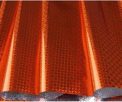 Пленка голография (размер: 70см*8,3м, 30мкм), цвет: оранжевый