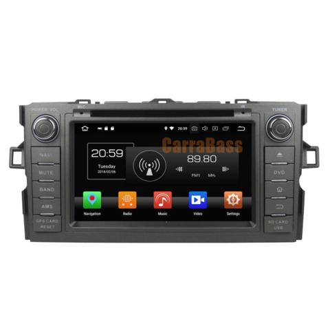 Штатная магнитола Toyota Auris 2007-2012 Android 8.1