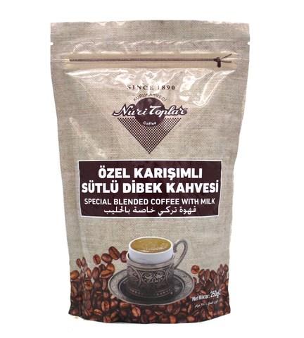 Турецкий кофе молотый с молоком, Nuri Toplar, 250 г
