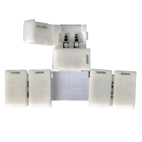 Т-образный коннектор для одноцветной светодиодной ленты 3528, 2835  (10 шт.) LED 1T