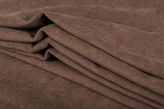 Штора готовая однотонная из портьерной ткани | цвет: бежево-коричневый