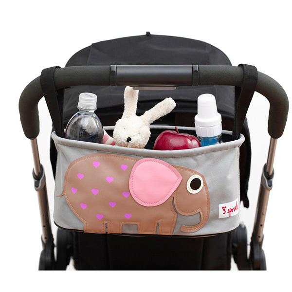 Сумка-органайзер для коляски 3 Sprouts Слон (розовый)
