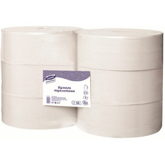 Бумага туалетная в рулонах Luscan Professional 1-слойные 6 рулонов по 525 метров