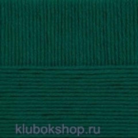Пряжа Молодежная Пехорка 573 темный изумруд - купить в интернет-магазине недорого klubokshop.ru