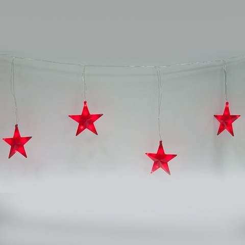 Гирлянда фигурная «звезды» 230V 100LED RED, CL109 (Feron)