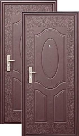 Дверь входная Кайзер E40M, 1 замок, 0,6 мм  металл, (медь+медь)