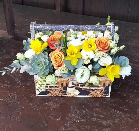 Ящик с цветами Куба