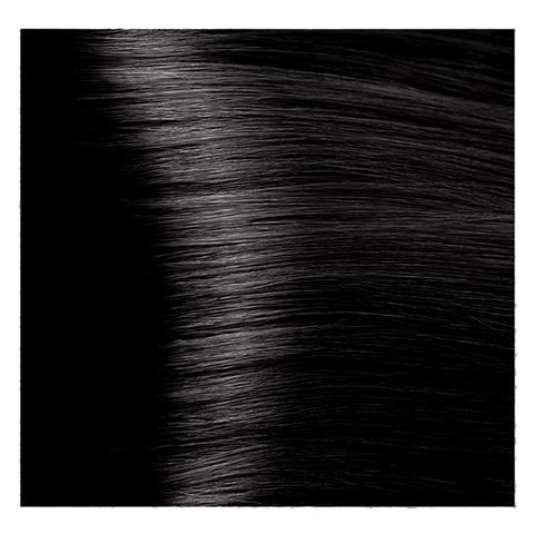 Крем краска для волос с гиалуроновой кислотой Kapous, 100 мл - HY 4.18 Коричневый лакричный
