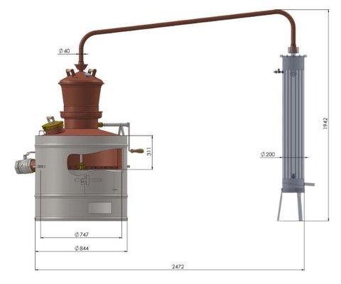 Дистиллятор медный Des Профессионал 160 литров