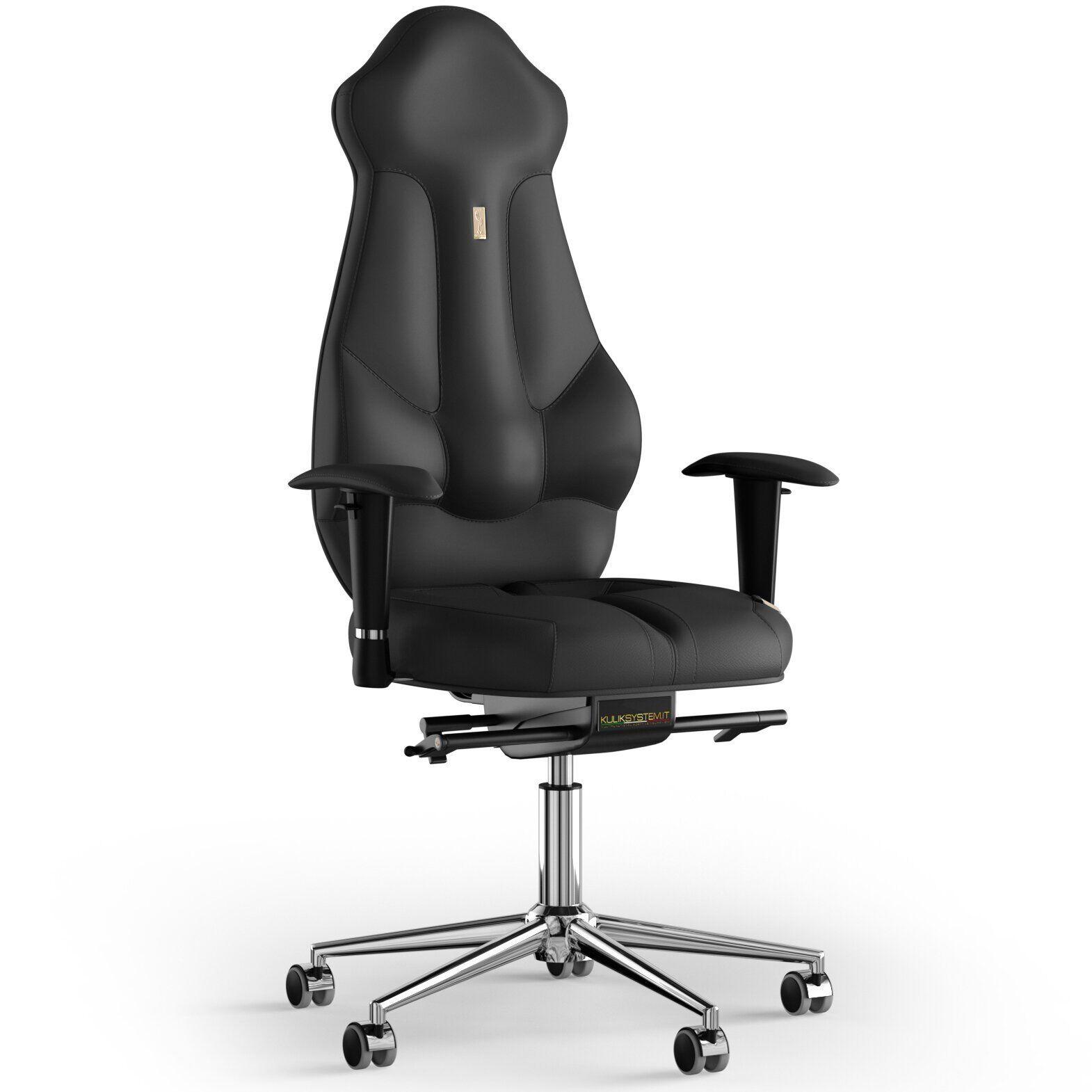 Кресло KULIK SYSTEM IMPERIAL Экокожа с подголовником без строчки