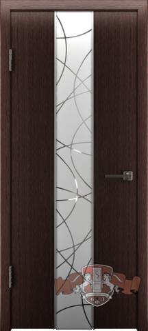 Дверь 16ДО7 зеркало (венге, остекленная шпонированная), фабрика Владимирская фабрика дверей