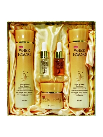 WHEE HYANG ANTI-WRINKLE & WHITENING SKIN CARE 5 SET