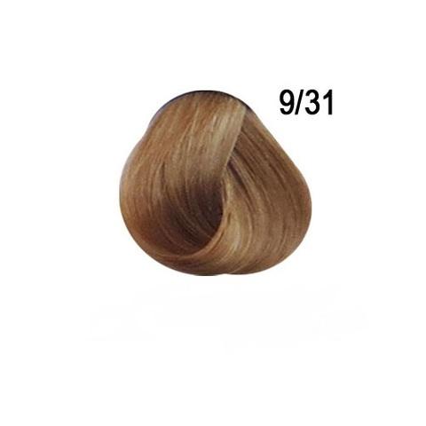 Перманентная крем-краска для волос Ollin 9/31 золотисто пепельный блондин