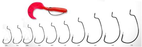 Крючок Офсетный KUMHO Craft Hook OFFSET WORM