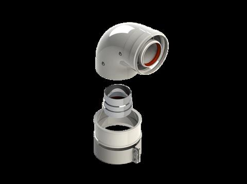 Колено подключения 90 диам. 60/100L (Br,Bx) RTF13.004 - RoyalThermo