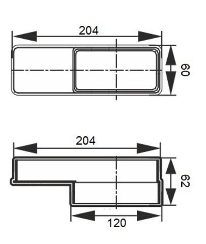 Соединитель эксцентриковый 120х60/204х60
