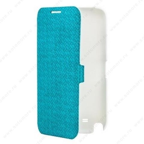 Чехол-книжка Yoobao для Samsung Galaxy Note 2 N7100 - Yoobao Fashion Leather Case (British style pattern) Blue