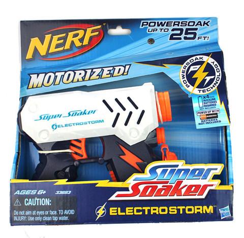 Hasbro: Водяной бластер Nerf Супер Соакер Электрошторм 33693  — Nerf Super Soaker Electrostorm Water Pistol Gun Blaster — Нерф Нёрф Хасбро