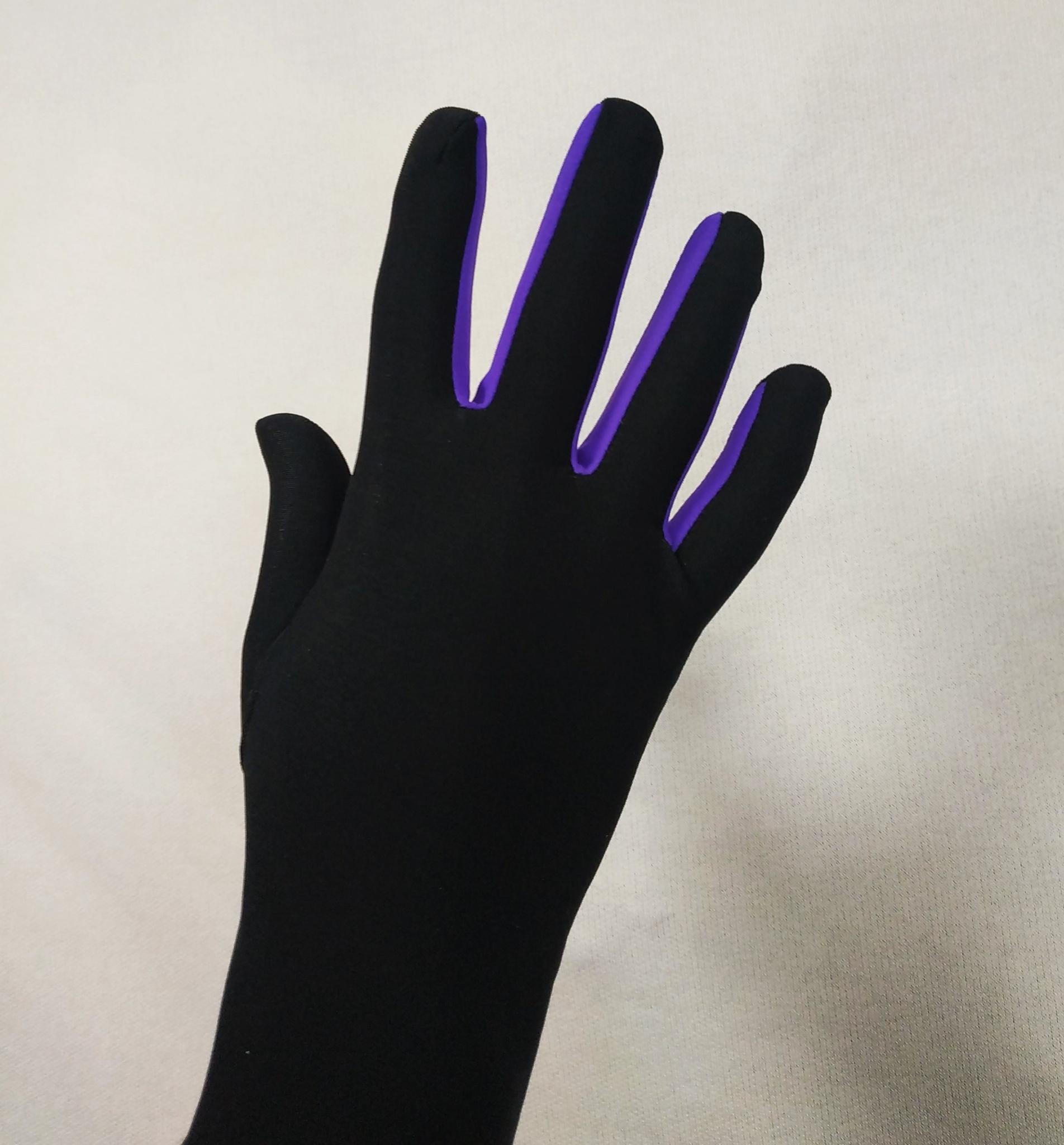 Перчатки из термоткани (с фиолетовой вставкой)