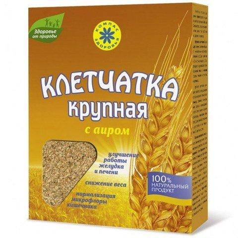 Клетчатка пшеничная крупная с аиром, 150 гр.(Компас Здоровья)