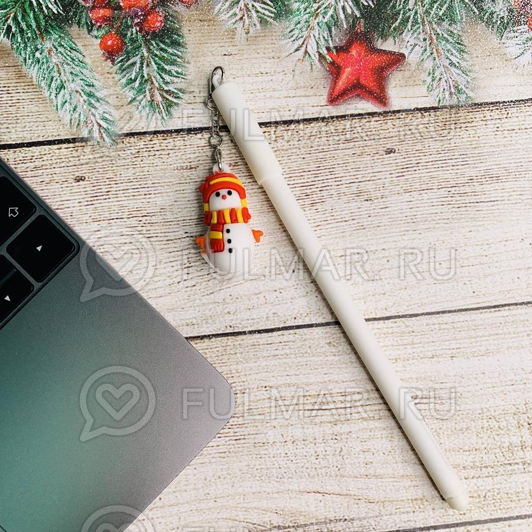 Ручка со Снеговиком сувениром шариковая на масляной основе фото