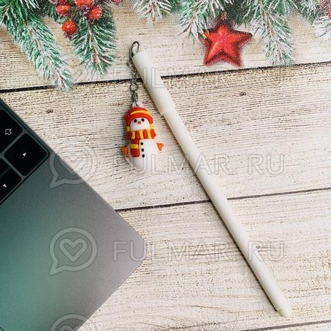 Ручка со Снеговиком сувениром шариковая на масляной основе