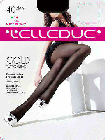 Колготки Gold 40 XXL Elledue