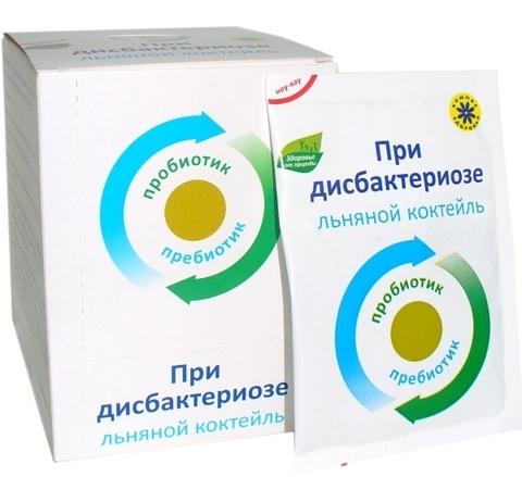 Коктейль льняной при дисбактериозе, 10 гр. (Компас Здоровья)