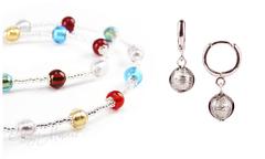 Комплект Carnavale Argento Piccolo (серебристые серьги Piccolo, ожерелье)