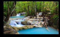 """Постер """"Лесной водопад"""""""