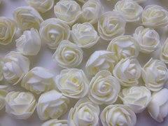 Роза из фоамирана круглая 3-3,5 см, 1 шт.